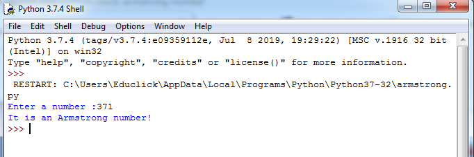 Python Armstrong Number