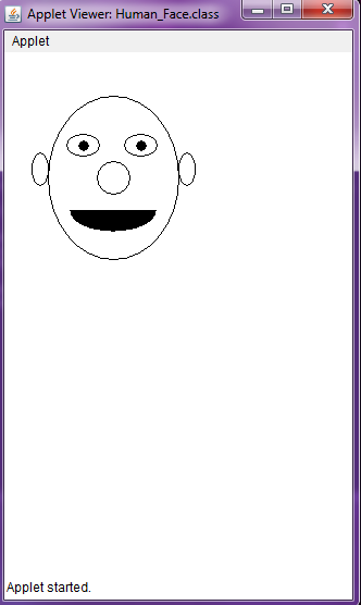 Develop an Applet for Drawing a Human Face