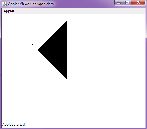 Draw a Polygon in Java Applet