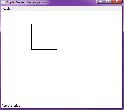 Draw a line and rectangle in Java Applet