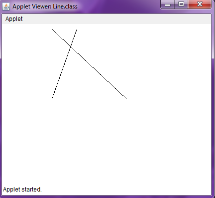 Draw a line in Java Applet