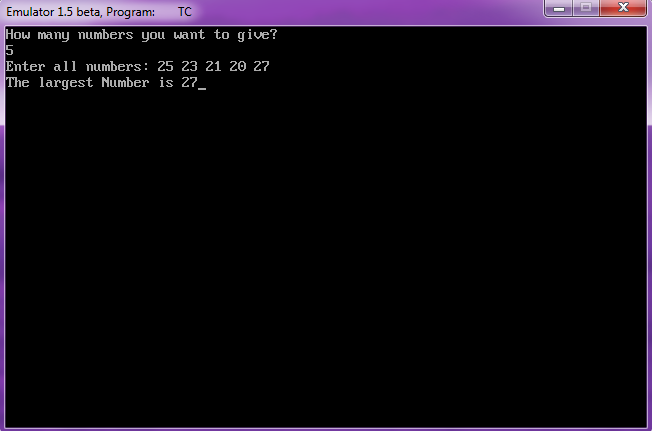 C Program to Find the Largest Number in an Array